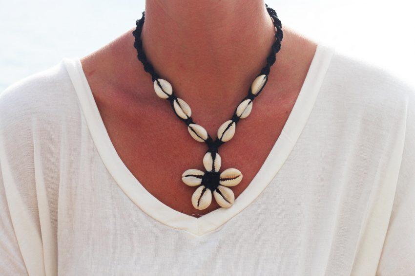 cowrie shell hemp necklace