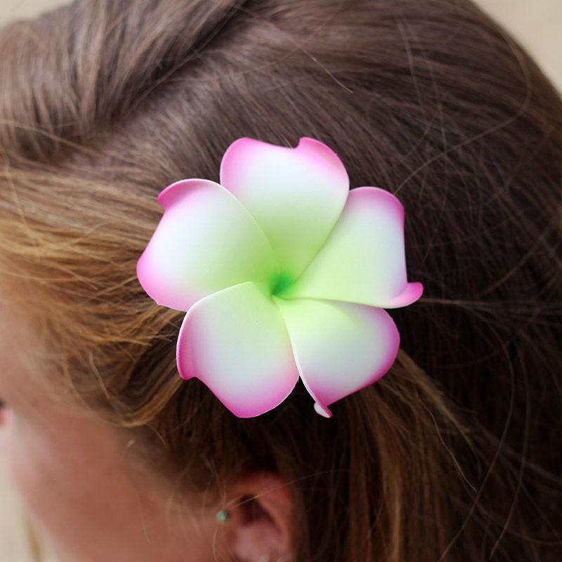plumeria hair clips