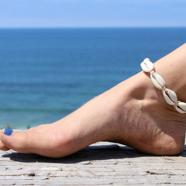 cowrie shell anklets