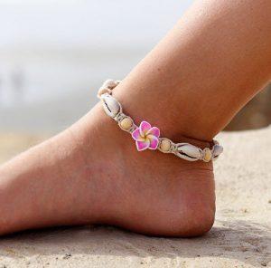 Hawaii flower anklet