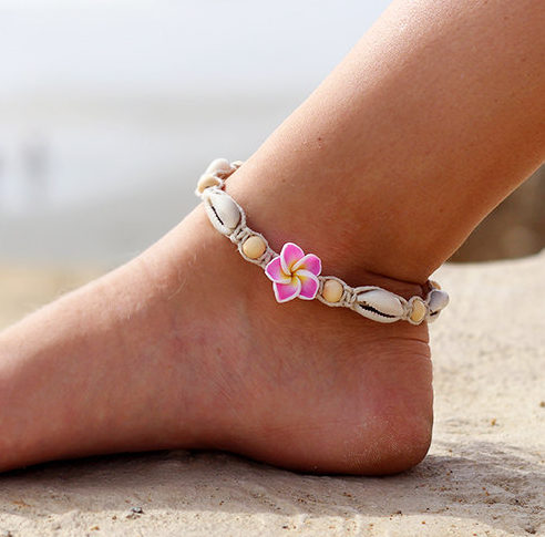 Hawaii flower anklet