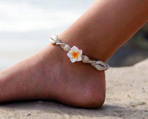 Plumeria Flower Anklet, Made To Order