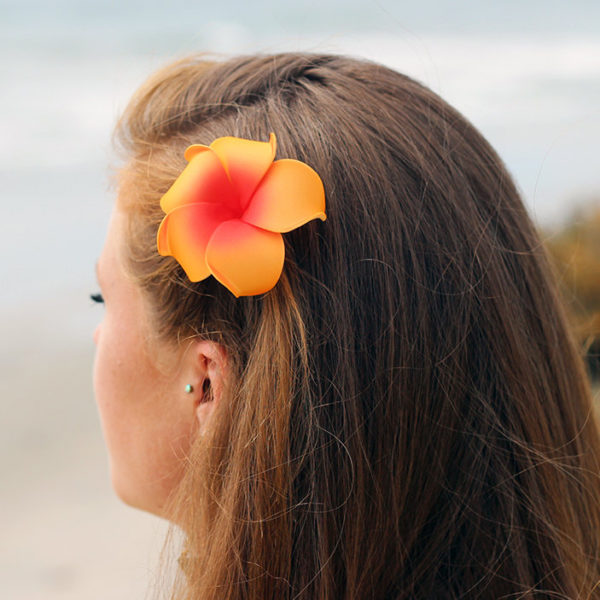 Hawaii hair clips, plumeria