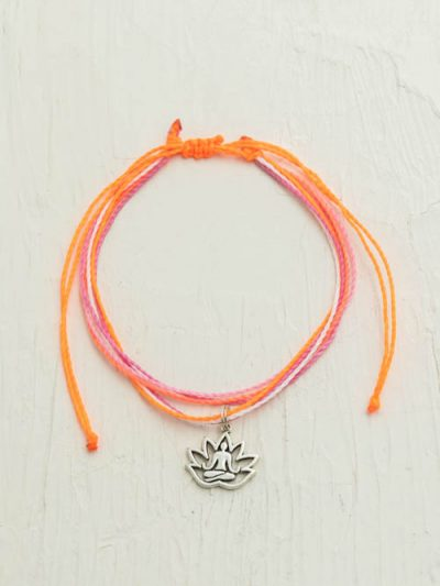 Waxed Cord Anklet, Yoga Lady, Made To Order