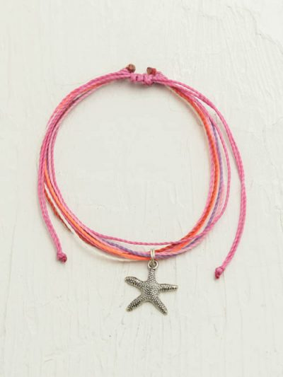 Waxed Cord Anklet, Starfish, Made To Order