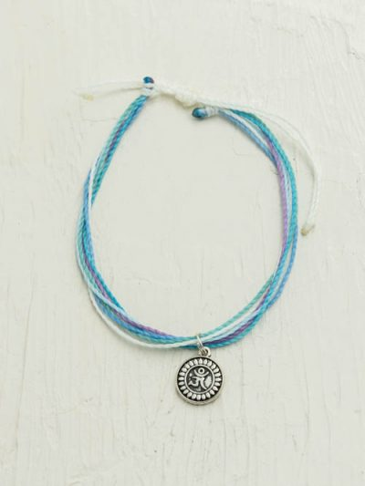 Waxed Cord Ohm Anklet, Made To Order