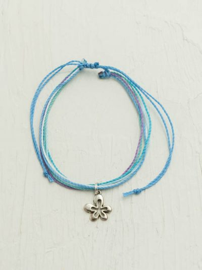 Waxed Cord Flower Anklet, Made To Order