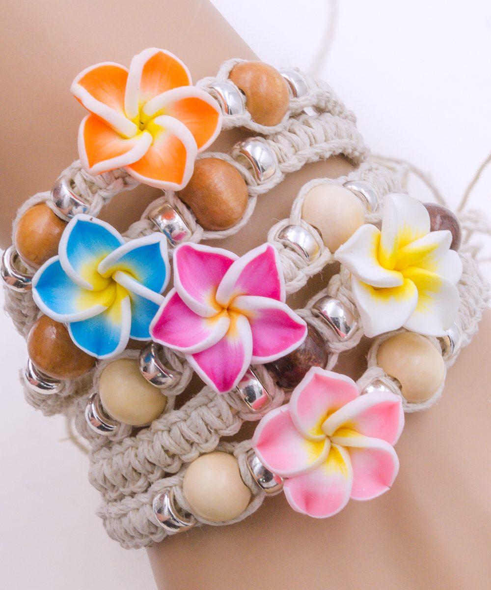 hemp flower bracelets, hemp jewelry