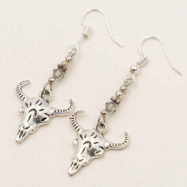 cow skull earrings