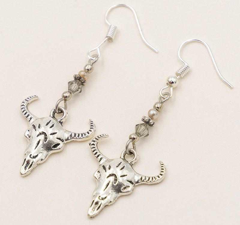 cow skull earrings