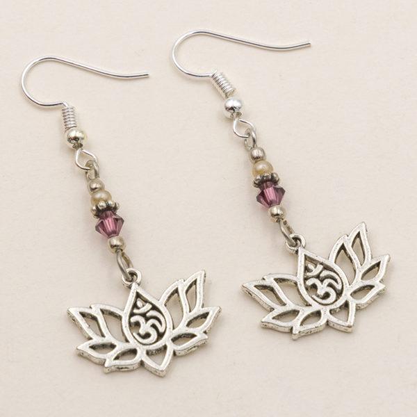 lotus ohm earrings