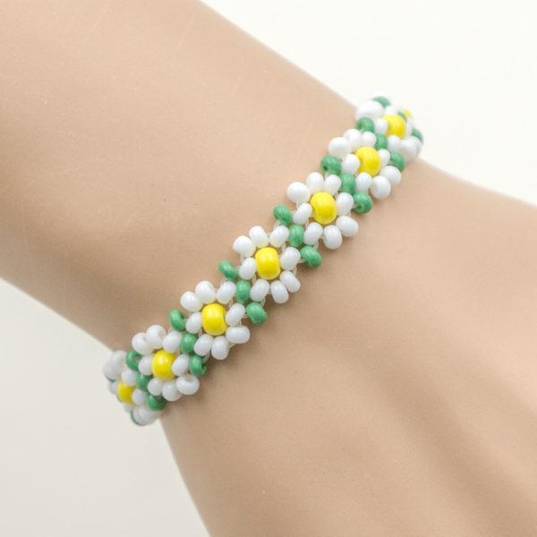 stretch flower bracelets