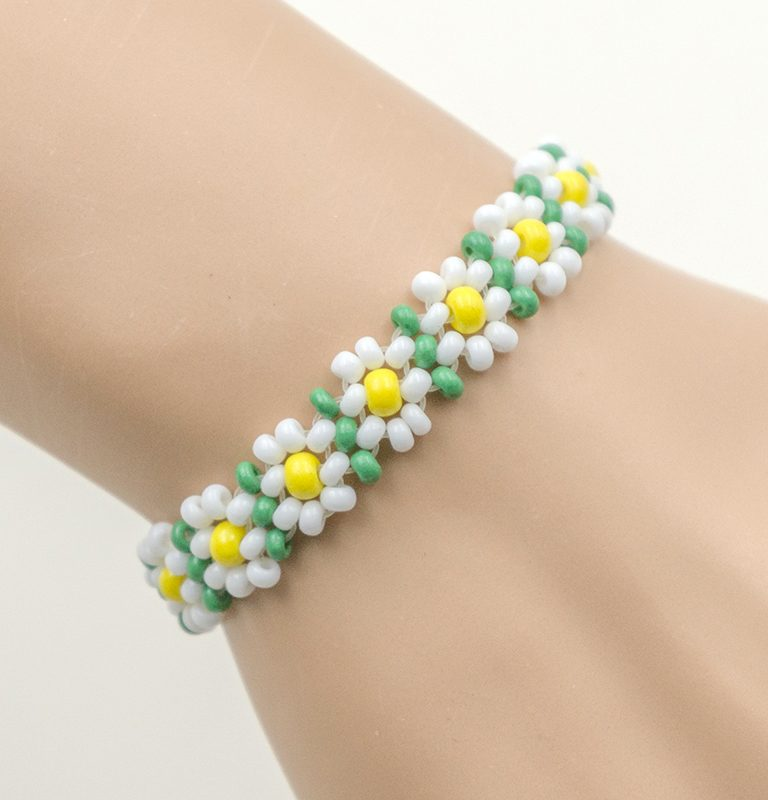 stretch flower bracelets