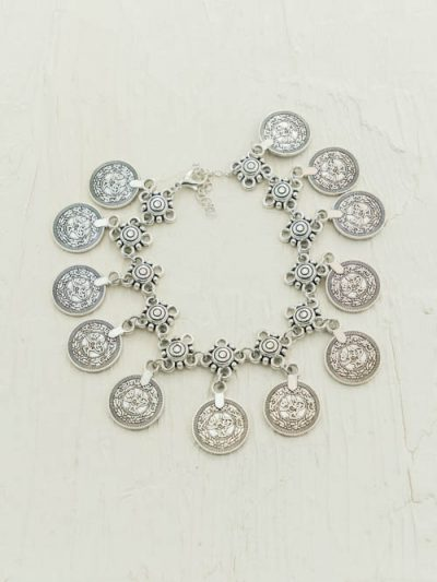 Gypsy Coin Anklet, One Size