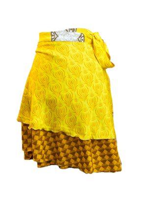 Medium Length silk sari skirt