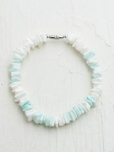 shell anklet, surf jewelry