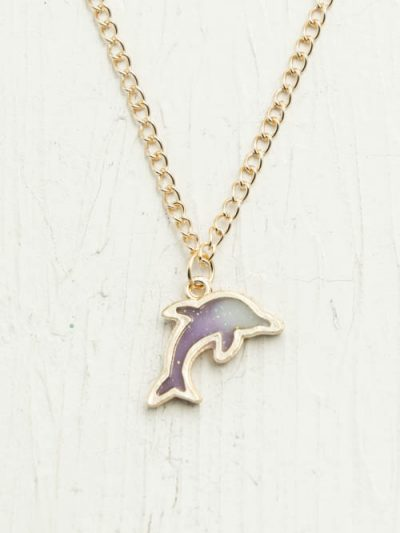 dolphin necklace gold chain
