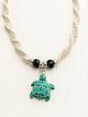 turtle hemp necklace
