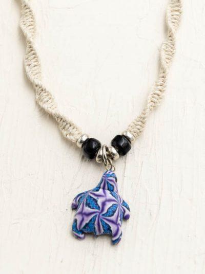 Purple Turtle Hemp Necklace