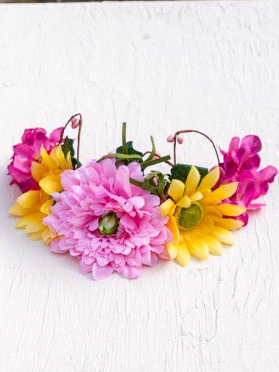 daisy flower hair crown